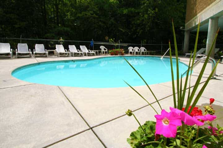 The pool at Park Place Condos in Gatlinburg.