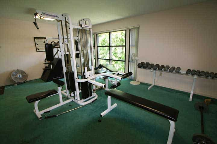 The exercise room at Park Place Condos in Gatlinburg.