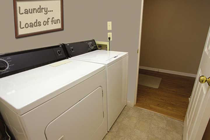The laundry room in one of our Gatlinburg condo rentals.